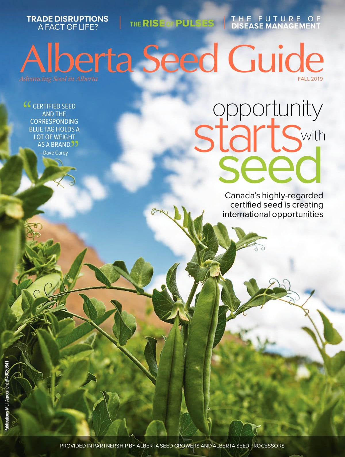 Fall 2019 – Opportunity Starts with Seed
