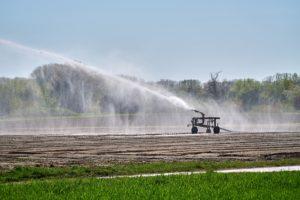 Irrigation in a field