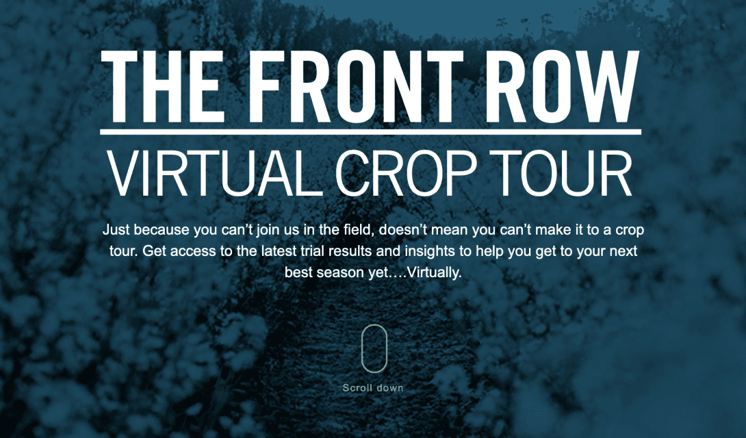 The Front Row: Virtual Crop Tour Experience