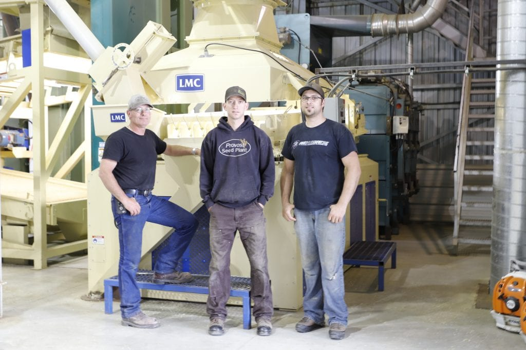 Provost Co-operative Seed Clean Plant employees