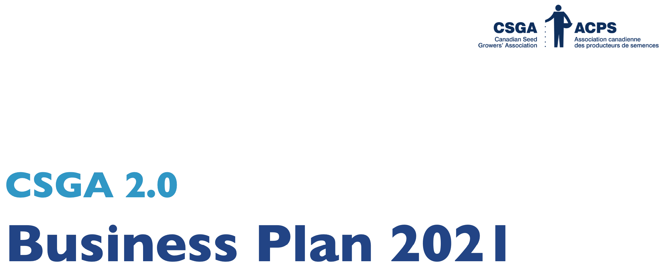 CSGA 2.0 Business Plan 2021