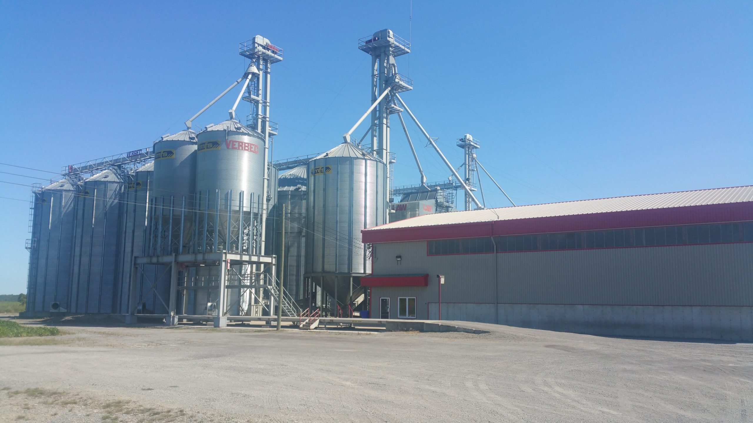 Grain handling yard equipped with a SigmaGrain software system